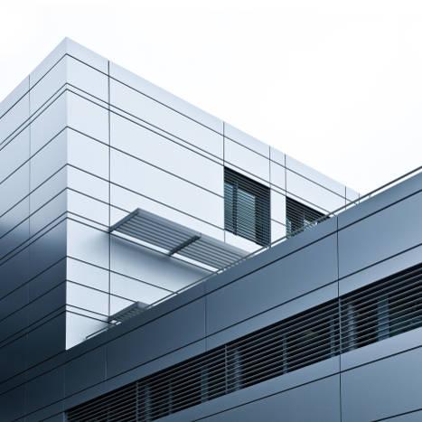 bâtiment inox