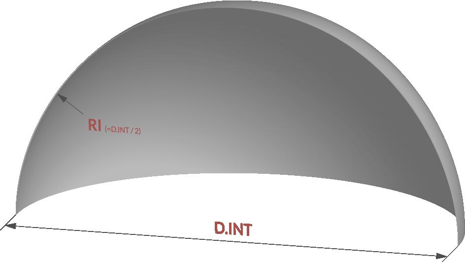 fond de cuve demi sphere