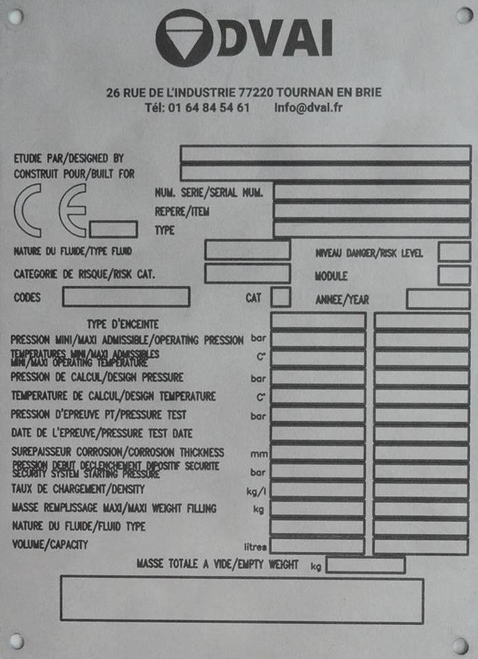 plaque de firme inox